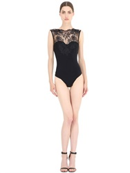 Christies Lace And Microfiber Shapewear Bodysuit