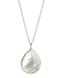 Ippolita Sterling Silver Teardrop Pendant Necklace Mother Of Pearl Silver