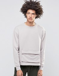 Systvm Keez Sweater With Pocket Grey