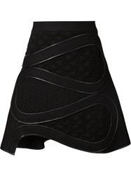 David Koma Embroidered A Line Skirt Black