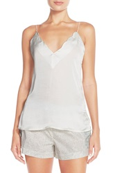 Free People Scallop Satin Camisole Ivory