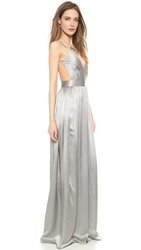 One By Contrarian Babs Bibb Maxi Dress Silver