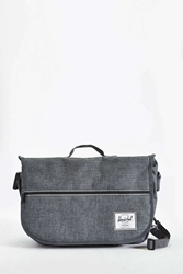 Herschel Supply Co. Pop Quiz Messenger Cross Hatch Messenger Bag Charcoal