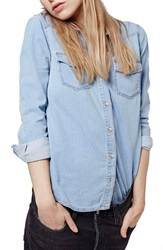 Women's Topshop Western Denim Shirt