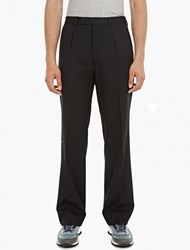 Valentino Black Wide Leg Wool Trousers