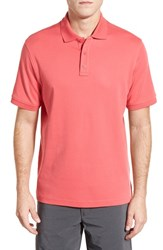 Nordstrom Men's Men's Shop Regular Fit Interlock Knit Polo Red Chateaux