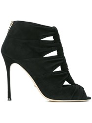 Sergio Rossi Knotted High Heel Sandals Black