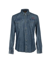 Blend Of America Blend Denim Shirts Blue