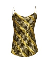 Doru Olowu Harlem Deco Print Silk Cami Top Yellow Multi