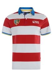 Rugby World Cup 2015 Advantage Hoop Short Sleeve Rugby Shirt Red