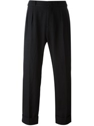 Pence Loose Fit Tailored Trousers Black