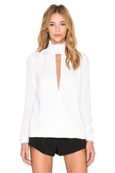 Finders Keepers The Light Long Sleeve Top White