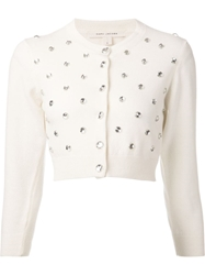 Marc Jacobs Cropped Cardigan White