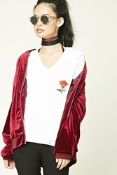 Forever 21 No Love Without Pain Tee White Black