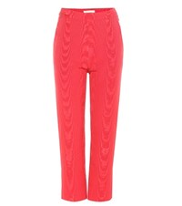Isa Arfen Cropped Trousers Red
