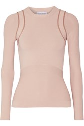 Narciso Rodriguez Stretch Knit Top Beige