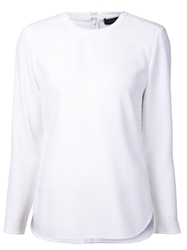 Ralph Lauren Black Basic Blouse White