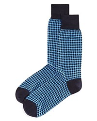 Bloomingdale's The Men's Store At Houndstooth Socks Navy