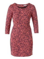 Lavand Dress With French Sleeve Pink