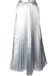 Dkny Pleated Maxi Skirt Metallic
