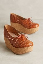 Anthropologie Nora Scarpe Di Lusso Onelia Platform Oxfords Tan 36 Euro Oxfords