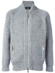 Dsquared2 Zip Up Knit Cardigan Grey
