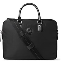 Dunhill Leather Trimmed Nylon Briefcase Black