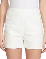 1.State Flat Front Pocket Shorts White
