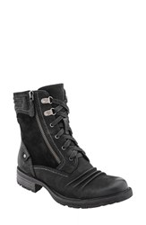 Earthr Women's Earth 'Summit' Lace Up Boot Black Vintage Leather