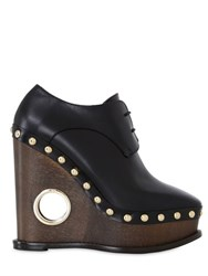 Paloma Barcelo 140Mm Studded Leather Lace Up Wedges