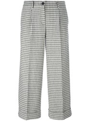 P.A.R.O.S.H. Plaid Cropped Trousers Grey