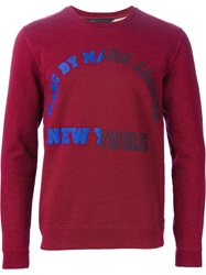 Marc By Marc Jacobs Logo Print Sweatshirt Red
