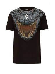 Marcelo Burlon Recoleta Crocodile Print Cotton T Shirt Black Multi