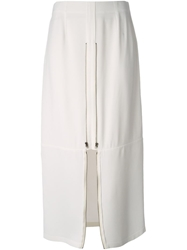 Maison Martin Margiela Zip Detail Skirt White
