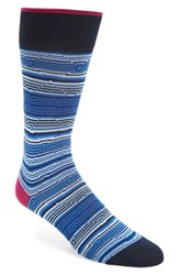 Bugatchi Men's Diamond Stripe Socks