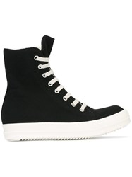 Rick Owens Drkshdw Zip Detail Sneakers Black