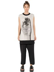 Maison Martin Margiela Printed Heavy Cotton Jersey Dress