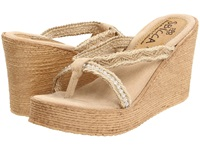 Sbicca Jewel Natural Women's Wedge Shoes Beige