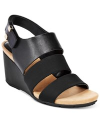 Alfani Women's Elleana Wedge Sandals Only At Macy's Women's Shoes Black