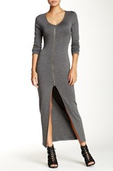 Blvd Long Zipper Dress Gray