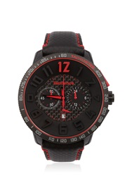Tendence Carbon Fiber Chr Black And Red Watch Black Red