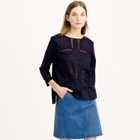 J.Crew Tall Embroidered Lace Top