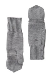 Joie Satchi Convertible Wool Mittens Gray