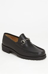 Men's Gucci Classic Lug Sole Moccasin Black