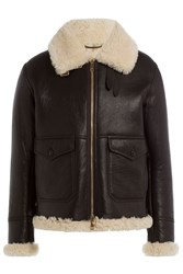 Burberry Brit Lambskin And Shearling Jacket Brown
