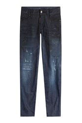 Dsquared2 Distressed Tapered Jeans Blue