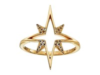 Elizabeth And James Astral Ring Gold Plated White Topaz Ring