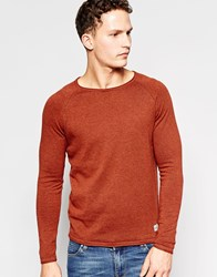 Jack And Jones Jack And Jones Knitted Jumper With Crew Neck Red