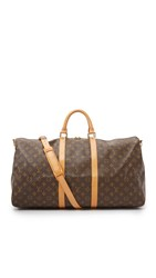Wgaca Louis Vuitton Monogram Bandouliere 55 Previously Owned Brown