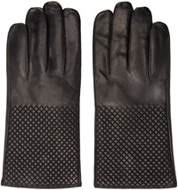 Want Les Essentiels Black Quilted Leather Dumas Gloves